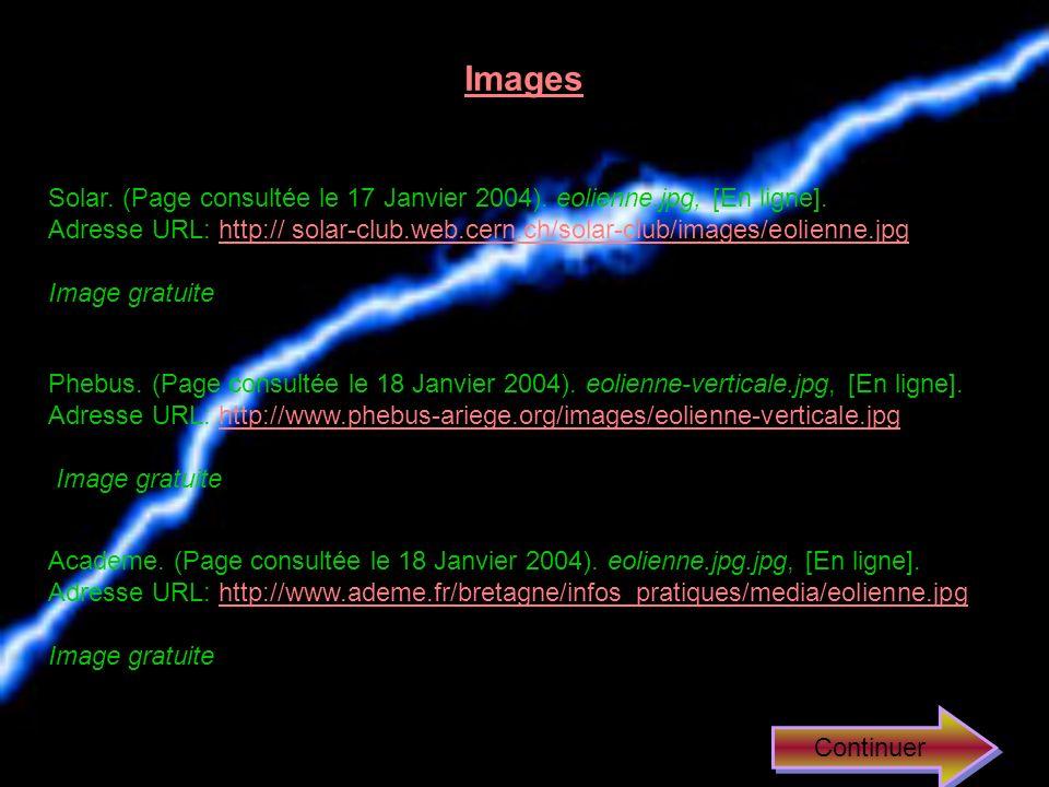 Images Solar. (Page consultée le 17 Janvier 2004). eolienne.jpg, [En ligne].